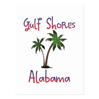 El golfo apuntala Alabama Postales