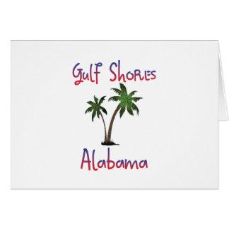 El golfo apuntala Alabama Tarjeta De Felicitación