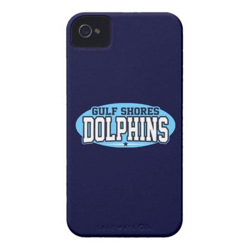 El golfo apuntala la High School secundaria; Delfí iPhone 4 Case-Mate Cárcasas