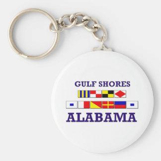 El golfo apuntala llavero de las banderas