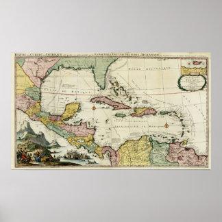 El Golfo de México 1705 Póster