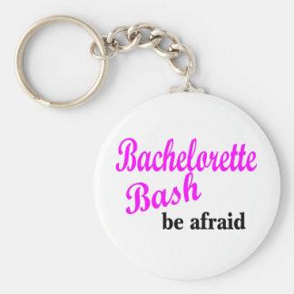 El golpe de Bachelorette tenga muy miedo Llavero Redondo Tipo Pin