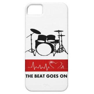 El golpe del corazón de un batería iPhone 5 funda