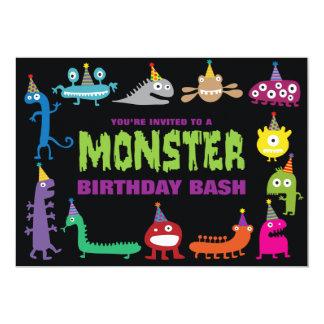 El golpe del cumpleaños del monstruo invita comunicado personal