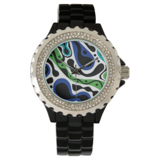 El golpe va en azul relojes de pulsera