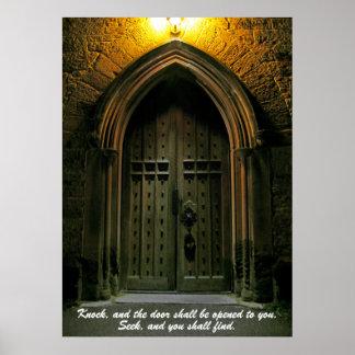 El golpe y la puerta serán abiertos (1) póster