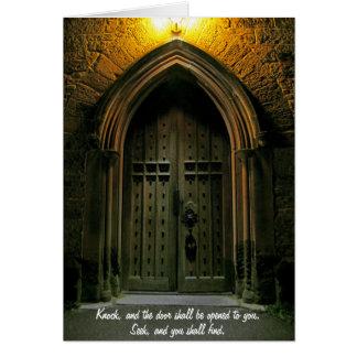 El golpe y la puerta serán abiertos (1) felicitacion
