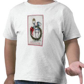 El golpear de la guirnalda de la tenencia de Chris Camiseta