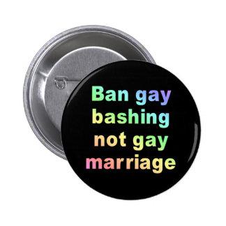 el golpear del gay de la prohibición pin