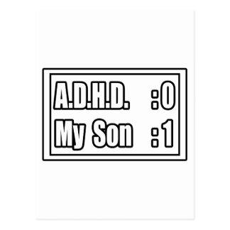 El golpeo A.D.H.D. (marcador) de mi hijo Tarjetas Postales