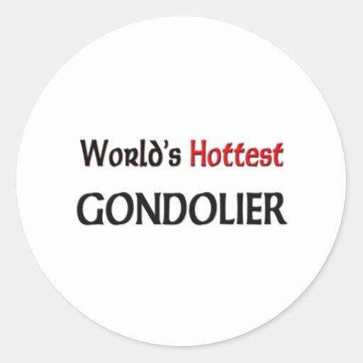 El gondolero más caliente de los mundos pegatina redonda