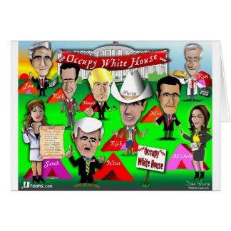 El GOP ocupa Casa Blanca Tarjeta De Felicitación