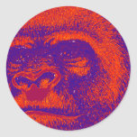 El GORILA 3D Etiqueta Redonda