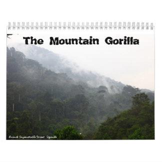 El gorila de montaña calendarios