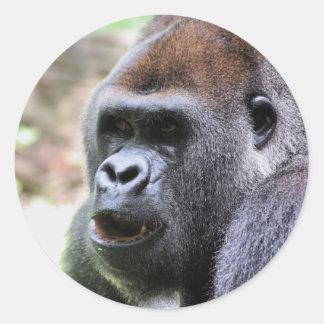 El gorila dice pegatina redonda