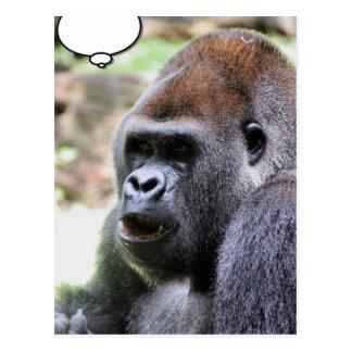 El gorila dice postal