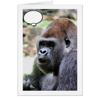 El gorila dice tarjeta de felicitación