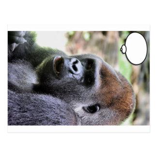 El gorila dice tarjetas postales