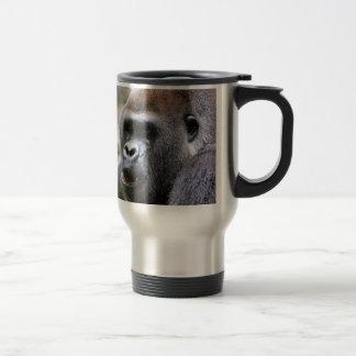 El gorila dice taza de viaje de acero inoxidable