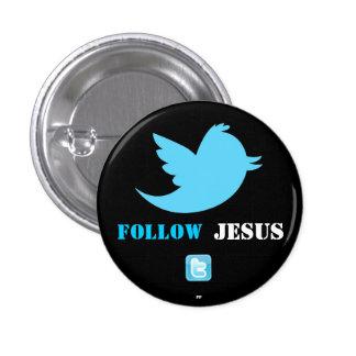 El gorjeo bird.png, twittericon.png, sigue, JES… Pin Redondo 2,5 Cm