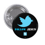 El gorjeo bird.png, twittericon.png, sigue, JES… Pin Redondo De 1 Pulgada