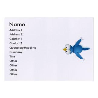 El gorjeo me sigue su nombre de usuario tarjetas de visita