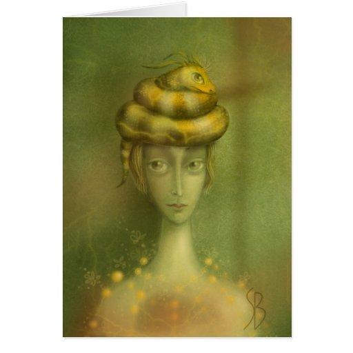 El gorra -2 tarjeta de felicitación