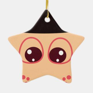 El gorra adorno navideño de cerámica en forma de estrella