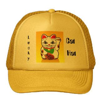 el gorra afortunado del camionero del gato