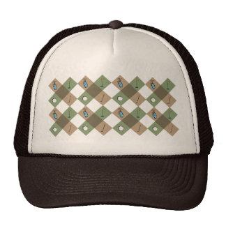 El gorra ajustable del modelo del golfista