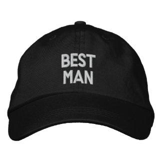 El gorra ajustable personalizado el MEJOR HOMBRE Gorras Bordadas