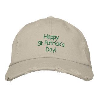 El gorra bordado día de St Patrick feliz Gorras De Béisbol Bordadas