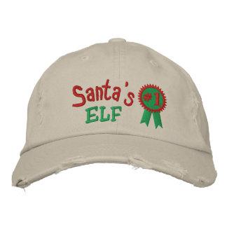 El gorra bordado duende de Santa Gorra De Béisbol