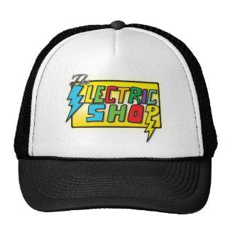 El gorra coloreado tienda eléctrica del logotipo (
