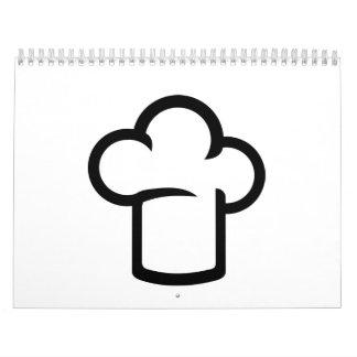 El gorra de cocinar del cocinero calendarios de pared