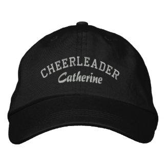 El gorra de la animadora de encargo negra y gris gorra de béisbol bordada