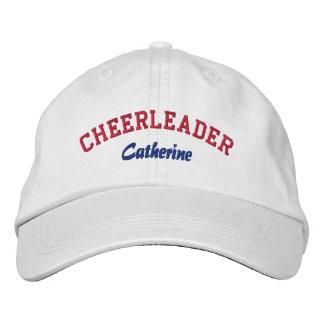 El gorra de la animadora de encargo roja, blanca,  gorra de béisbol
