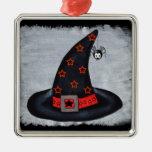 El gorra de la bruja protagoniza la araña linda ornaments para arbol de navidad