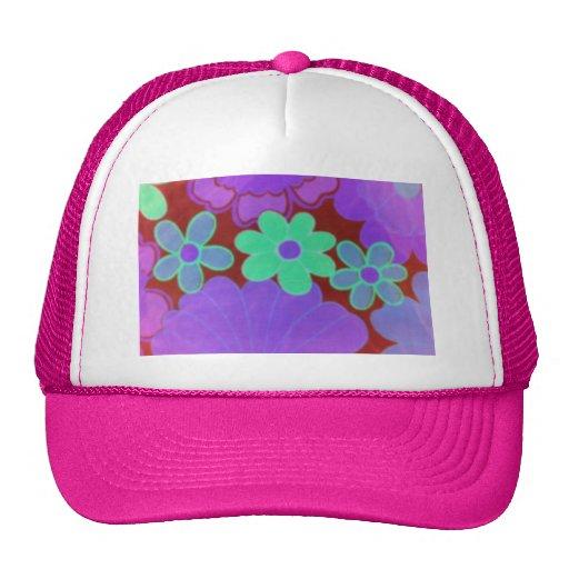 el gorra de la flor retra de los años 70