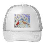 El gorra de la malla de los cardenales