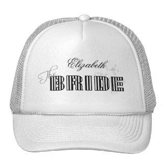 El gorra de la novia personalizada