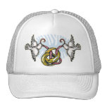 El gorra de la paloma del boda