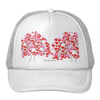 El gorra de la tarjeta del día de San Valentín del