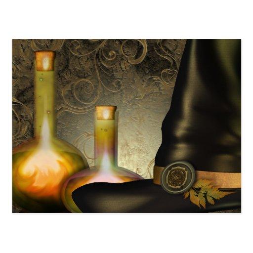 El gorra de las brujas tarjeta postal