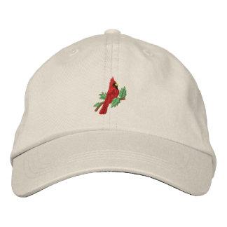 El gorra de las mujeres bordadas pájaro cardinal r gorras bordadas