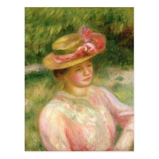 El gorra de paja, 1895 postal