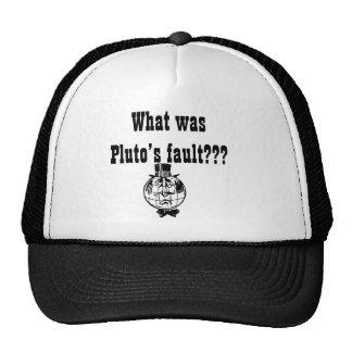 El gorra de Plutón del planeta