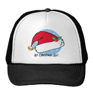 El gorra de Santa con Bell y acebo