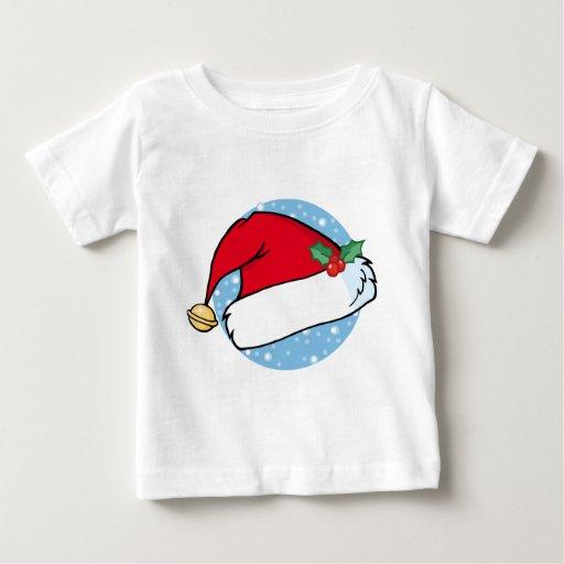 El gorra de Santa con Bell y acebo Tee Shirt