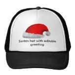El gorra de Santa con el saludo editable